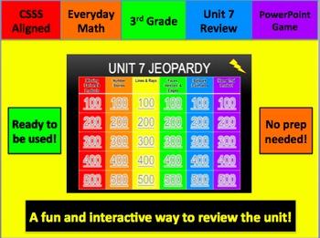 Everyday Math Jeopardy Unit 7 Grade 3