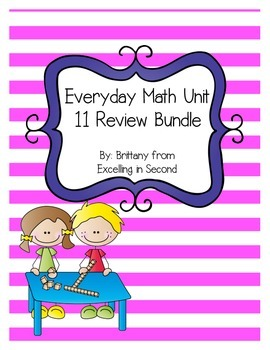 Everyday Math Unit 11 Review Bundle for 2nd Grade