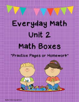 Everyday Math Unit 2 Math Boxes