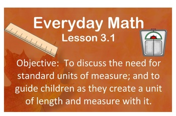 2007 EDITION. Everyday Math. Unit 3 Lessons {Bundled Pack}