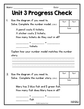 Everyday Math Unit 3 Review, Homework, and Test (Common Co