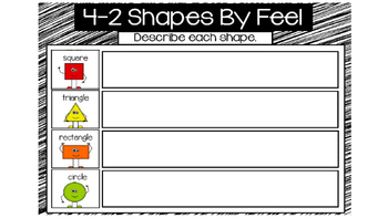 Everyday Math Unit 4 - 2 Shapes By Feel