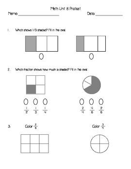 Everyday Math Unit 8 Pretest