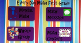Everyday  Math Unit 9 First Grade