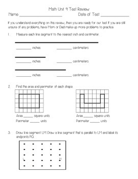 Everyday Math Unit 9 Review