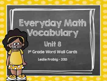 Everyday Math Word Wall Words Units 8 and 9 Vocabulary
