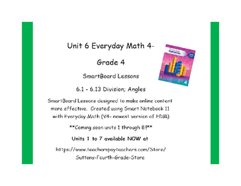 Everyday Math (version 4) Grade 4 Smartboard- Unit 6 Decim