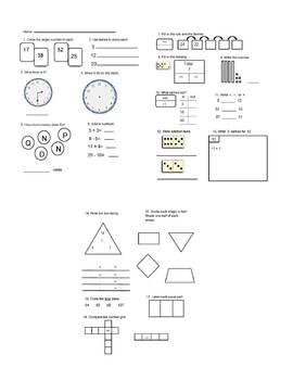 Everyday Mathematics Grade 1 Assessment