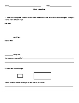Everyday Mathematics Unit 3 Test Review, Common Core, Grade 4