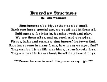 Everyday Structures Poem