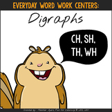 Word Work Centers {Digraphs}