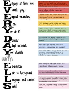 Everyday with ELLs: Teaching ELLs in the Content Areas