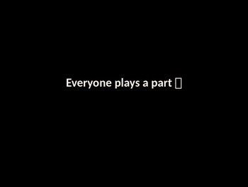 Everyone Plays A Part Speaking Activity