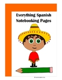 Spanish Notebooking Pages