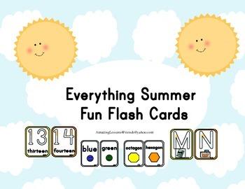 Everything Summer Fun Flash Cards