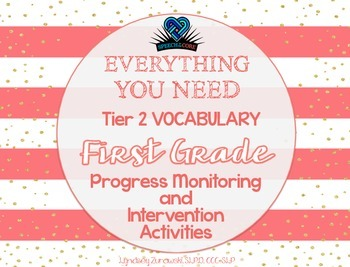 Everything You Need! First Grade Tier 2 Vocab Progress Mon