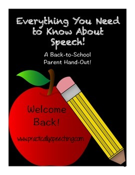 Everything You Need to Know About Speech: A Parent Hand-ou