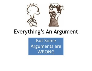 Everything's an Argument--Logical Fallacies PDF version