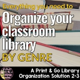 Everything you need to Organize your Classroom Library
