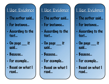 Evidence-Based Terms Bookmarks