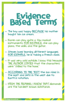 """Evidence Based Terms Poster (11"""" x 17"""")"""