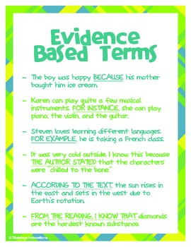 """Evidence Based Terms Poster (8.5"""" x 11"""")"""