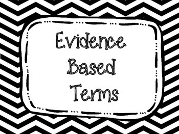 Evidence Based Terms Posters Primary Colors