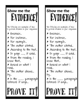 Evidence Bookmark