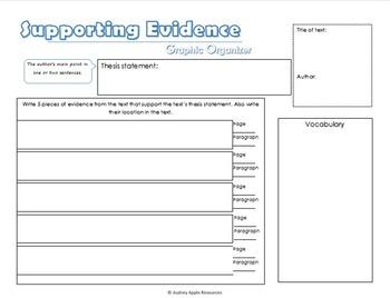 Evidence Graphic Organizers *FREE*