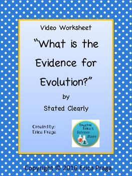 Evidence for Evolution Video Worksheet-FREEBIE!