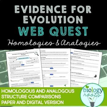 Evidence for Evolution Webquest: Homologous and Analogous