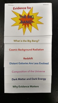 Evidence for the Big Bang Theory Foldable