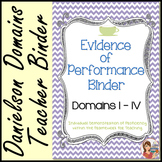Danielson Evidence of Performance Binder (Cafe Chevron)