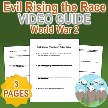 "Evil Rising ""The Race"" Original Video Guide Questions"