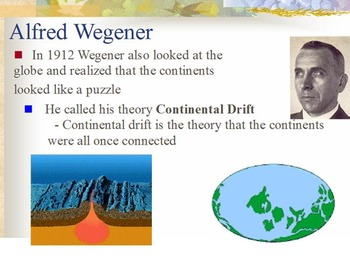 Evolution - Continental Drift w/ Worksheet