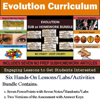 Evolution Curriculum - Six Lessons & Seven Literacy Articl