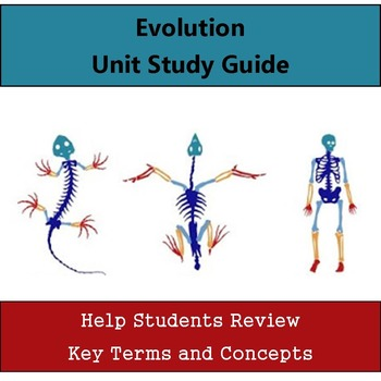 Evolution Unit Study Guide