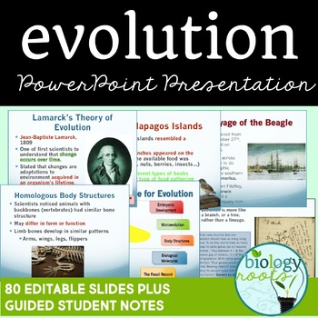 Evolution and Natural Selection PowerPoint (student notes