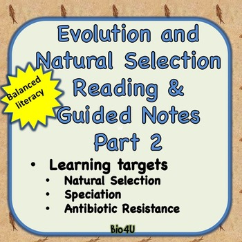 Evolution and Natural Selection Reading and Guided Notes Part 2