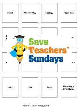 Evolution terminology / vocabulary Lesson plan, Activity a