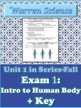 Exam 1-Intro to Human Body + KEY-Unit 1 in Series (Fall)