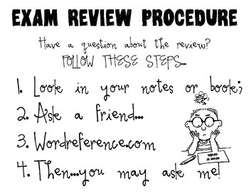 Exam Review Procedure