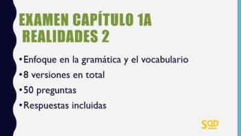 Examen Capítulo 1A Realidades 2
