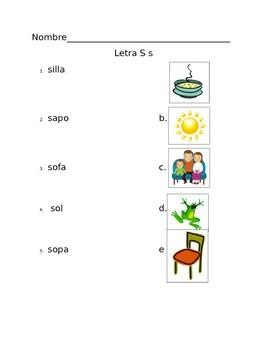 Examen Letra Ss