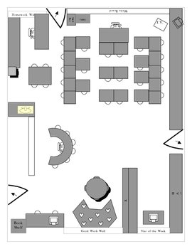 Example of a Second Grade Classroom Layout