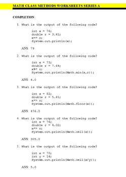 Examview Question Bank - Double Pack - Java Math Class Questions
