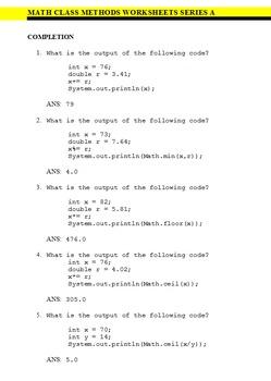 Examview Question Bank - FOUR PACK - Java Math Class Questions