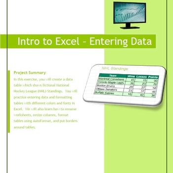 Excel 2010 Tutorial - Intro to Excel, data entry and formatting