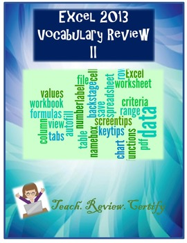 Excel 2013 Vocabulary Review II