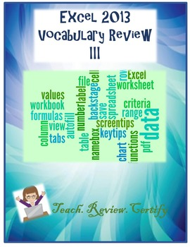 Excel 2013 Vocabulary Review III